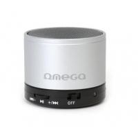 Bluetooth nešiojamas garsiakalbis OMEGA OG47 (MicroSD, laisvų rankų įranga) sidabrinis
