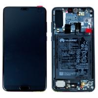 Ekranas Huawei P20 PRO su lietimui jautriu stikliuku su rėmeliu ir baterija Twilight originalus (service pack)