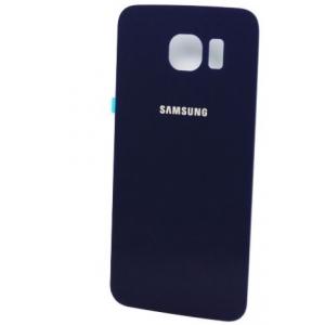 Galinis dangtelis Samsung G920F S6 mėlynas (juodas) originalus (used Grade B)