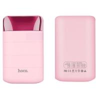 Išorinė baterija POWER BANK HOCO B29 10000mAh rožinė su microUSB laidu