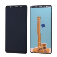Ekranas Samsung A750 A7 (2018) su lietimui jautriu stikliuku juodas originalus (service pack)