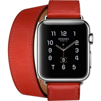 Apyrankė Cote iWatch Leather Red 42-44mm