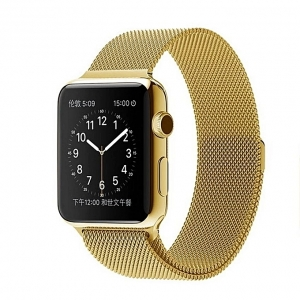 Apyrankė Cote iWatch Milanese Loop Gold 42-44mm