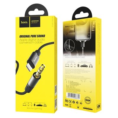 Audio adapteris HOCO UPA13 lightning į 3,5mm(p) juodas