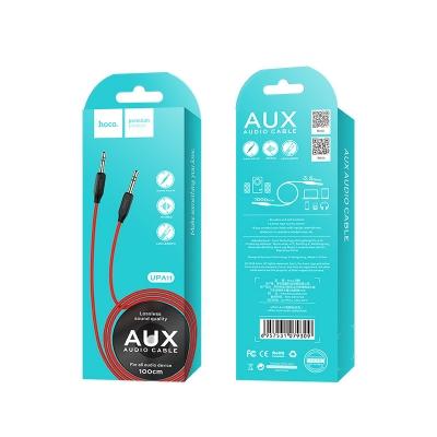 Audio adapteris HOCO UPA11 3,5mm į 3,5mm (p-p) raudonas