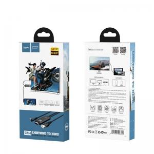 USB kabelis HOCO UA14 lightning to HDMI juodas 2M