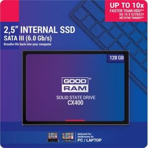 Kietasis diskas SSD GOODRAM CX400 128GB (6.0Gb / s) SATAlll 2,5