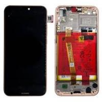 Ekranas Huawei P20 Lite su lietimui jautriu stikliuku su rėmeliu ir baterija auksinis originalus (service pack)