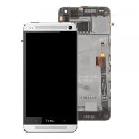 Ekranas HTC One Mini su lietimui jautriu stikliuku su rėmeliu baltas originalus (used Grade C)