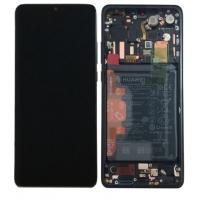 Ekranas Huawei P30 PRO su lietimui jautriu stikliuku su rėmeliu ir baterija juodas originalus (service pack)