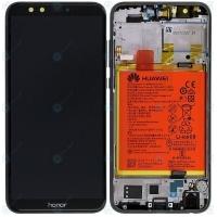 Ekranas Huawei Honor 9 Lite su lietimui jautriu stikliuku su rėmeliu ir baterija juodas originalus (service pack)