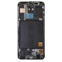 Ekranas Samsung A405 A40 2019 su lietimui jautriu stikliuku juodas originalus (service pack)