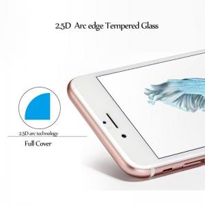 LCD apsauginis stikliukas  2.5D Invisible edge  Apple iPhone SE / 8 / 7 / 6S / 6 lenktas be įpakavimo