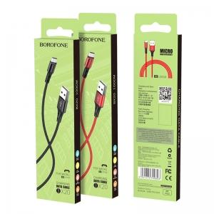 USB kabelis BOROFONE BX20 Enjoy microUSB raudonas 1m