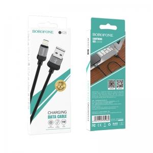 USB kabelis BOROFONE BX28 Dignity  lightning  pilkas 1m