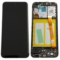 Ekranas Samsung A202 A20e 2019 su lietimui jautriu stikliuku juodas originalus (service pack)
