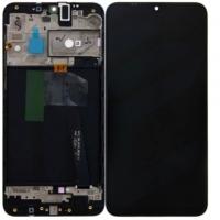 Ekranas Samsung A105 A10 su lietimui jautriu stikliuku juodas originalus (service pack)