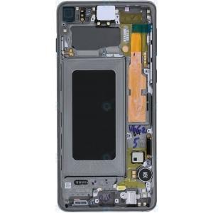Ekranas Samsung G973F S10 su lietimui jautriu stikliuku juodas (Prism Black) originalus (service pack)