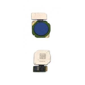 Lanksčioji jungtis Huawei P20 Lite / Nova 3E / Mate 10 Lite / P Smart / Honor 9 Lite / P Smart Plus / Mate 20 Lite su mėlynu pirštų atspaudų jutikliu (fingerprint) ORG
