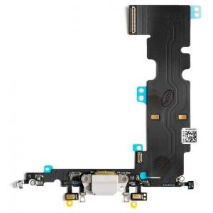 Lanksčioji jungtis Apple iPhone 8 Plus įkrovimo kontaktų, su mikrofonu balta (šviesiai pilka) ORG