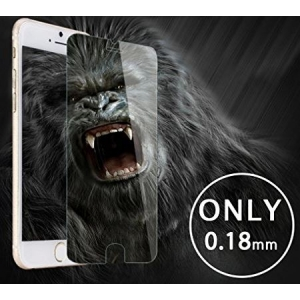 LCD apsauginis stikliukas  Gorilla 0.18mm  Apple iPhone 7 Plus / 8 Plus baltas be įpakavimo