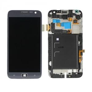 Ekranas Samsung i8750 Aktiv S su lietimui jautriu stikliuku su rėmeliu pilkas originalus (service pack)