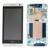 Ekranas HTC Desire 610 su lietimui jautriu stikliuku su rėmeliu baltas originalus (service pack)
