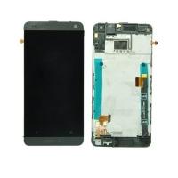 Ekranas HTC One Mini (M4) su lietimui jautriu stikliuku su rėmeliu sidabrinis originalus (used Grade B)