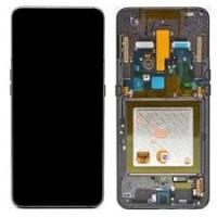 Ekranas Samsung A805F A80 su lietimui jautriu stikliuku juodas originalus (service pack)