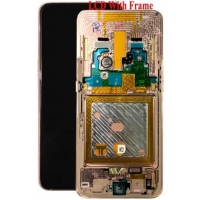 Ekranas Samsung A805F A80 su lietimui jautriu stikliuku auksinis originalus (service pack)