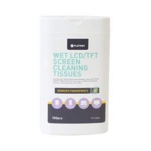 Drėgnos valymo servetėlės PLATINET LCD / TFT ekranams 11x9,4cm (100vnt)