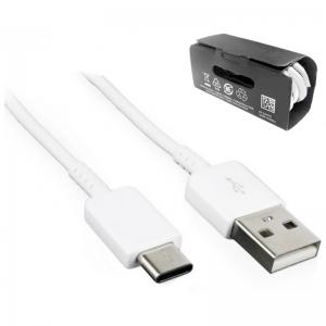 USB kabelis ORG Samsung S10 S10+ S9 Type-C (EP-DG970BWE) baltas (1M)