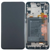 Ekranas Huawei P Smart Z su lietimui jautriu stikliuku su rėmeliu ir baterija juodas originalus (service pack)