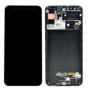 Ekranas Samsung A307F A30s su lietimui jautriu stikliuku juodas originalus (service pack)
