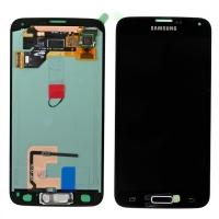 Ekranas Samsung G900F S5 su lietimui jautriu stikliuku juodas originalus (service pack)