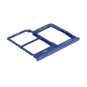 SIM kortelės laikiklis Samsung A202 A20e 2019 mėlynas ORG