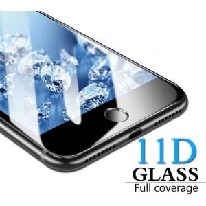 LCD apsauginis stikliukas  11D Full Glue  Samsung J415F / J4+ / J4 Plus J610F / J6+ / J6 Plus lenktas juodas be įpakavimo