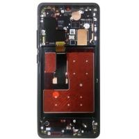 Ekranas Huawei P30 PRO su lietimui jautriu stikliuku su rėmeliu juodas originalus (used Grade C)