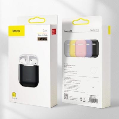 Dėklas Baseus Ultrathin Silica Gel Airpods 1 / 2 juodas