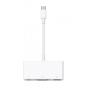 Adapteris Apple iš USB-C (Type-C) į VGA / USB-C / USB (A1620) originalus (used Grade A) pakuotėje