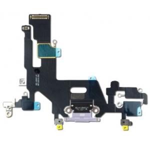 Lanksčioji jungtis Apple iPhone 11 įkrovimo kontaktų, su mikrofonu violetinis ORG