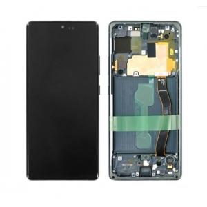 Ekranas Samsung G770F S10 Lite su lietimui jautriu stikliuku juodas originalus (service pack)