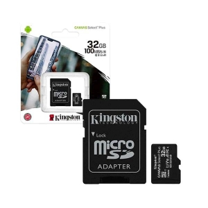 Atminties korta Kingston Canvas Select Plus MicroSD 32GB (class10 UHS-I 100MB / S)