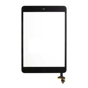 Lietimui jautrus stikliukas iPad mini / mini 2 juodas su home mygtuku, laikikliais ir IC HQ
