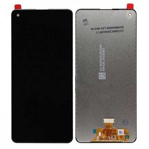 Ekranas Samsung A217F A21s su lietimui jautriu stikliuku juodas originalus (service pack)