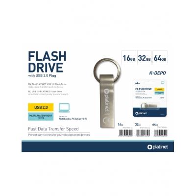 Atmintinė Platinet Metal Waterproof 32GB USB 2.0