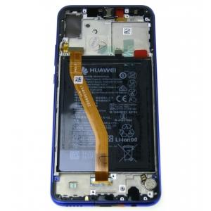 Ekranas Huawei Nova 3 su lietimui jautriu stikliuku su rėmeliu ir baterija violetinis (Iris Purple) originalus (used Grade B)