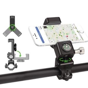 Universalus telefono laikiklis ant dviračio su kompasu Guider