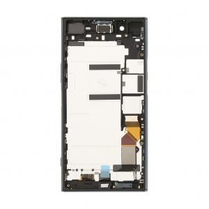 Ekranas Sony G8141 Xperia XZ Premium su lietimui jautriu stikliuku su rėmeliu juodas originalus (used Grade C)