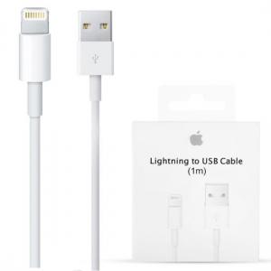 USB kabelis originalus iPhone 5 / 6 / 7 / 8 / X / 11  lightning  (1M) (MD818ZM / A) (used Grade A) pakuotėje